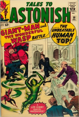 Tales to Astonish #50 Origin and First Appearance, Human Top aka Whirlwind. Click for value