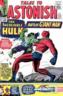 Tales to Astonish #59: First issue of this comic book to feature the Hulk. Click for values