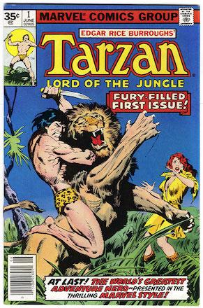 Marvel Comics Tarzan #1 35 Cent Price Variant Edition