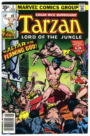 Marvel Comics Tarzan #3 35c Price Variant