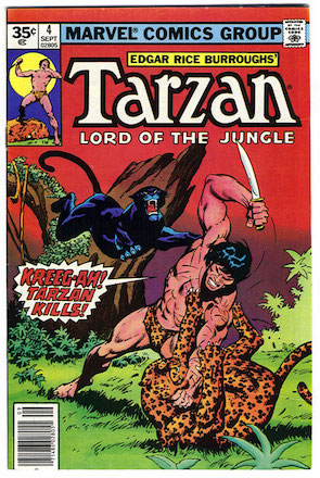 Marvel Comics Tarzan #4 35 Cent Price Variant