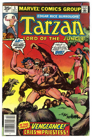 Marvel Comics Tarzan #5 35 Cent Price Variant