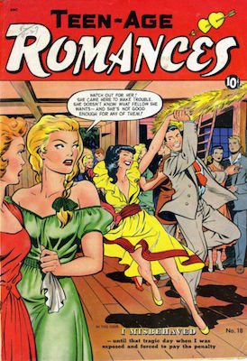Teen-Age Romances #18, Matt Baker cover. Click for values