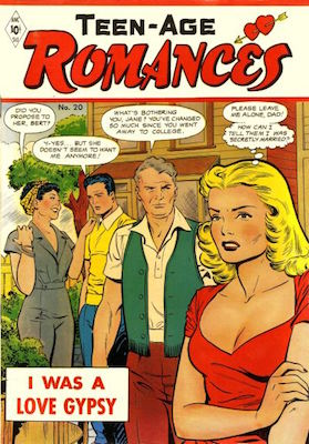 Teen-Age Romances #20. Cover by Matt Baker. Click for values