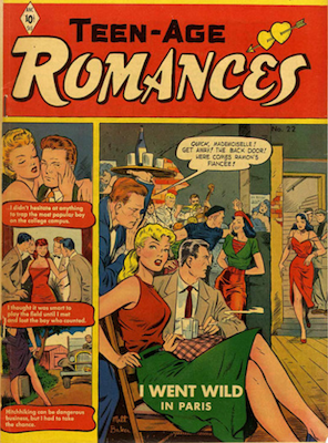 Teen-Age Romances #22: Matt Baker cover art. Click for values