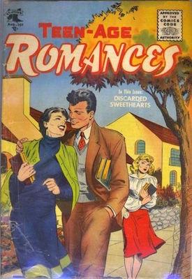 Teen-Age Romances #44. Cover art by Matt Baker. Click for values