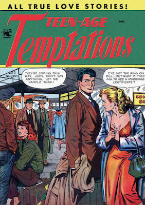 Teen-Age Temptations #3: Matt Baker cover art. Click for values