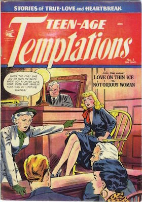 Teen-Age Temptations #5: Baker cover. Click for values