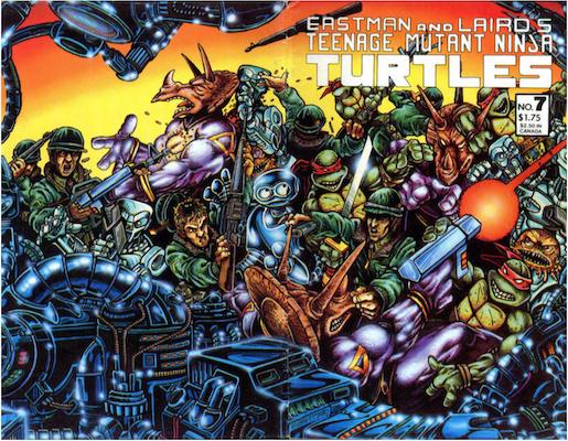 Teenage Mutant Ninja Turtles #7 (1986). Click for values