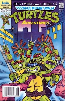 Teenage Mutant Ninja Turtles Adventures #23 (1989): Archie Publications. Click for values