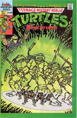 Teenage Mutant Ninja Turtles Adventures #3 (1989): Archie Publications. Click for values
