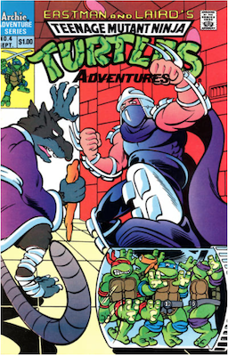 Teenage Mutant Ninja Turtles Adventures #4 (1989): Archie Publications. Click for values