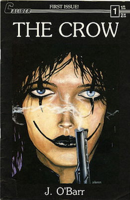 The Crow #1 (1989): First Solo Comic Book. Rare in high grade due to black cover. Click for value