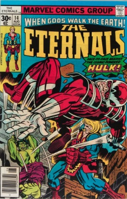 Origin and First Appearance, Hulk Robot, Eternals #14, Marvel Comics, 1977. Click for value