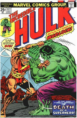 Incredible Hulk #177: 1st actual death of Warlock. Click for values.