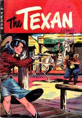 The Texan #4: Matt Baker comic book cover art. Click for values