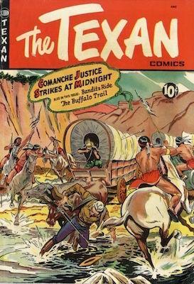 The Texan #7: Matt Baker comic book cover art. Click for values