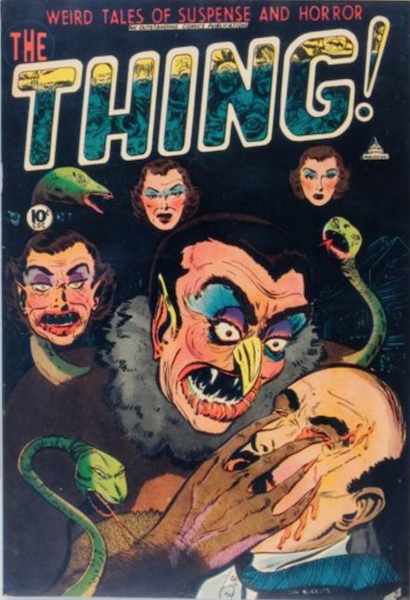Thing #7 (1953): Vampire Gouging Out Eyes cover. Click for value
