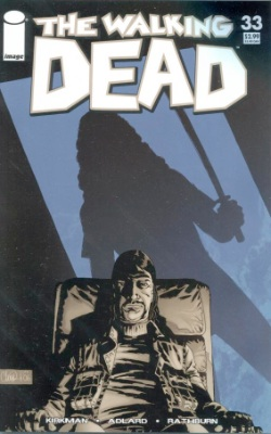 Walking Dead comic #33 second printing, blue cover. Record sale in CGC 9.8: $550 Click to buy yours