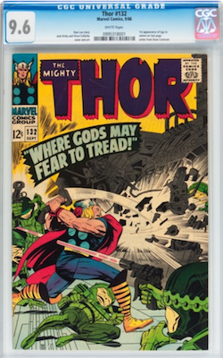 Don't slip below CGC 9.6 for Thor 132, as these issues seem surprisingly common in high grade. Click to find yours
