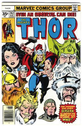 Thor #262 Marvel 35 Cent Price Variant