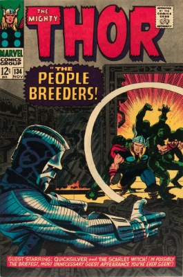 Thor #134: First appearance of High Evolutionary. Click for values