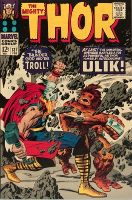 Ulik/The Trolls (First Appearance: Thor #137, February, 1967). Click for value