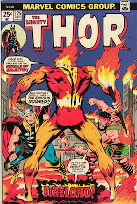 Thor #225, 1st Firelord. Click for values