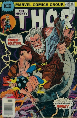 Thor #248 Marvel 30c Variant June, 1976. Starburst Flash