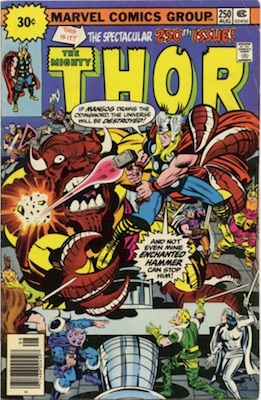 Thor #250 30 Cent Variant August, 1976. Starburst Flash