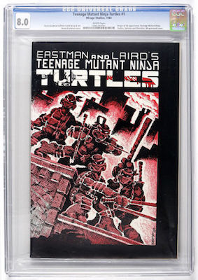 You might not be able to afford a VF-NM or higher example, but a nice CGC 8.0 of TMNT #1 1st print is a great investment. Click to buy