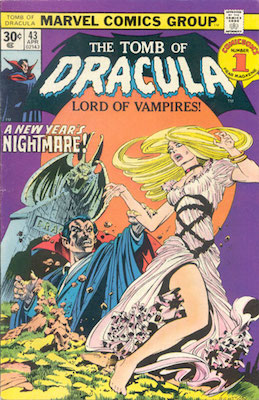 Tomb of Dracula #43 Marvel 30c Variant April, 1976. Regular Price Box