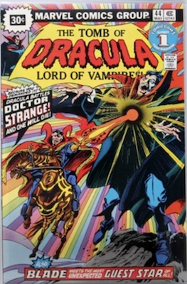 Tomb of Dracula #44 30 Cent Variant May, 1976. Price in Starburst