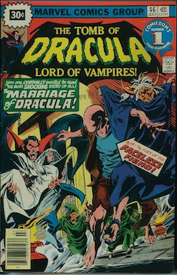 Tomb of Dracula #46 Marvel 30 Cent Price Variant July, 1976. Starburst Flash