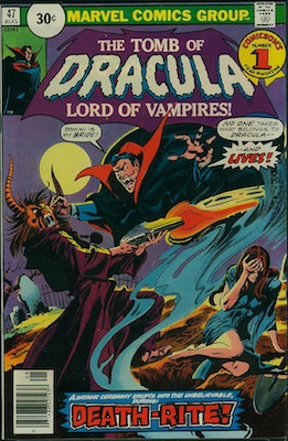 Tomb of Dracula #47 30c Variant August, 1976. Price in Circle