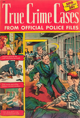 True Crime Cases comic.Matt Baker cover. Click for values