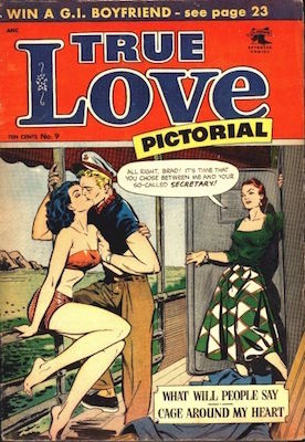 True Love Pictorial #9, Matt Baker cover. Click for values