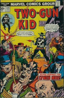 RARE! Two-Gun Kid #129 Marvel 30c Price Variant April, 1976. Regular Price Box