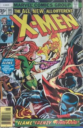 X-Men #105 Marvel 35 Cent Price Variants