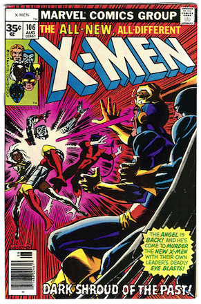 X-Men #106 Marvel 35 Cent Price Variants