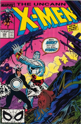 Uncanny X-Men #248: 1st Jim Lee artwork. Click for values