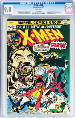 If you buy a CGC 9.0 of X-Men 94, it's about the sweet spot. There are too many mid-grade copies around to make them worth investing in. Click to find a copy now