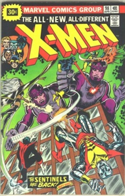 X-Men #98 Marvel 30 Cent Price Variant April, 1976. Starburst Flash