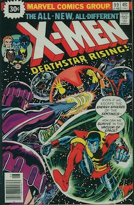 X-Men #99 30c Price Variant June, 1976. Price in Starburst