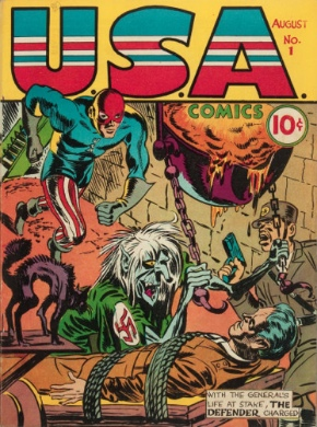 Origin and First Appearance, Jack Frost, U.S.A. Comics #1, Timely / Marvel Comics, 1941. Click for value