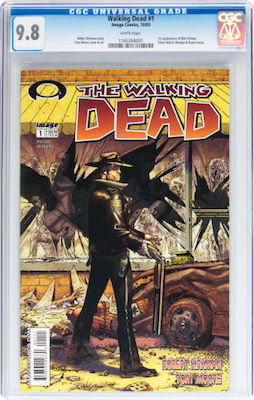 The Walking Dead #1 is best purchased in CGC 9.8, unless you can afford one of the rare CGC 9.9s. Click to buy