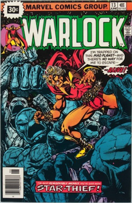 Warlock #13 30c Variant June, 1976. Price in Starburst