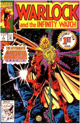 Warlock and the Infinity Watch #1 (1992). Click for values.