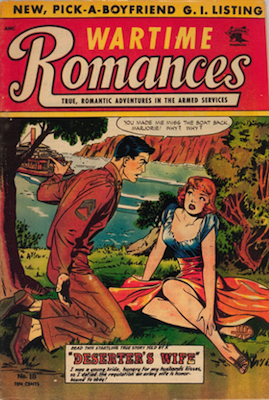 Wartime Romances #18: Matt Baker Cover Art. Click for values