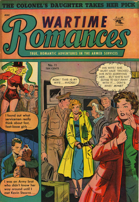 Wartime Romances #11: cover by Matt Baker. Click for values